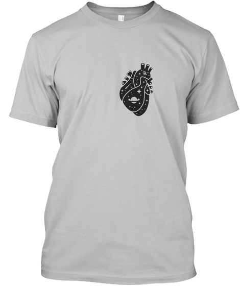 Space Heart 2 [Int] #Sfsf Sport Grey T-Shirt Front