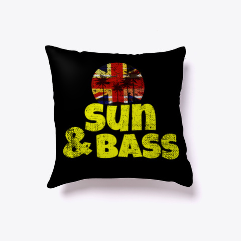 Drum And Bass Summer Music Festival Edm  Black T-Shirt Front