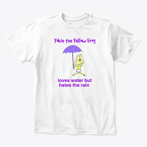 Yokie The Yellow Frog White T-Shirt Front