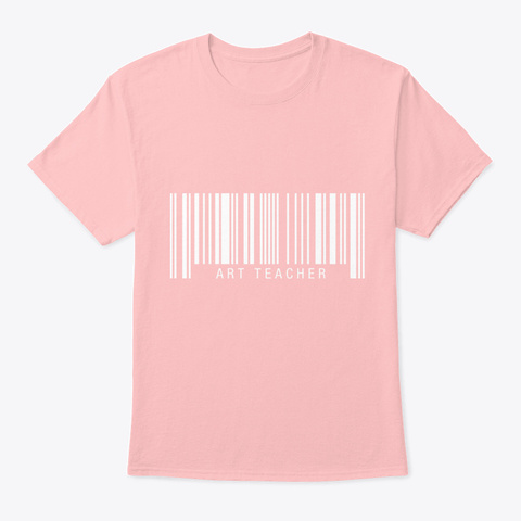 Art Teacher Barcode Pale Pink T-Shirt Front