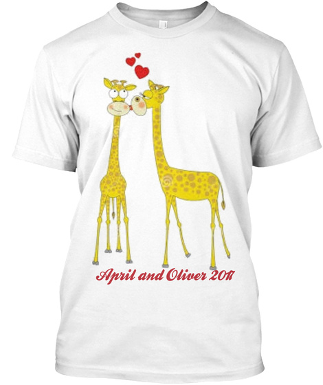 April And Oliver 2017 T-Shirt Front