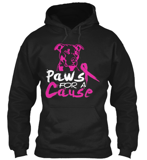 Paws For A Cause  Black Sweatshirt Front