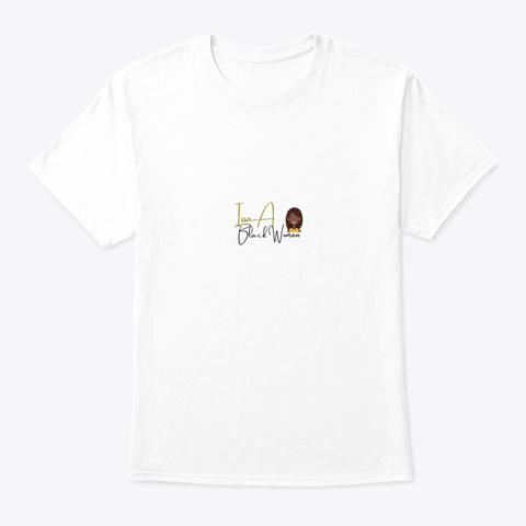 Issa Black Woman  White T-Shirt Front