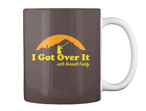 I Got Over It With Bennett Foddy Dk Brown T-Shirt Back