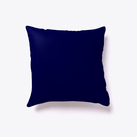 Creepy Halloween House   Pillow Dark Navy T-Shirt Back
