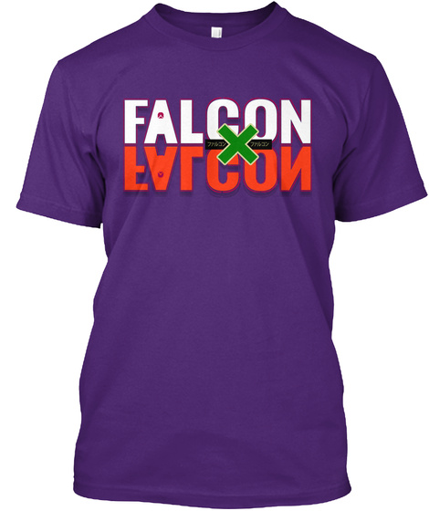 Falcon Falcon  Purple T-Shirt Front