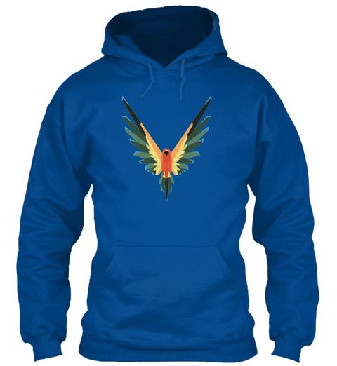 Maverick Hoodie  Royal T-Shirt Front