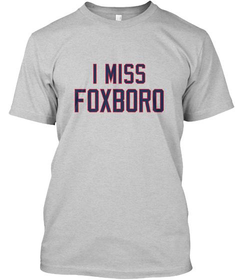 Naming Wrongs: Foxboro (Grey) Light Steel T-Shirt Front