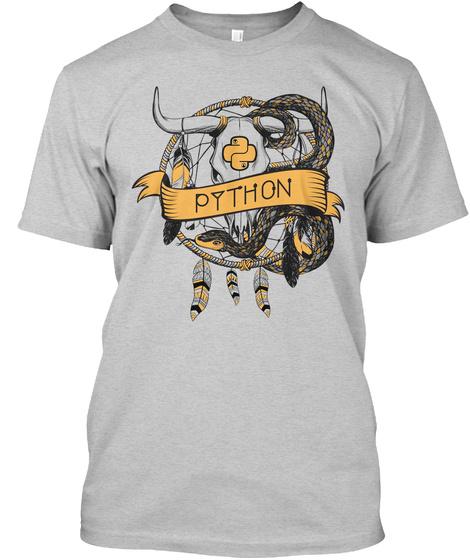 Python Light Steel T-Shirt Front