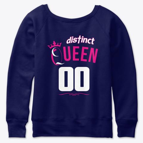 January Birthday Queen Navy  T-Shirt Back