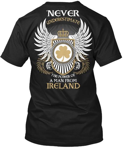 Man From Ireland Black T-Shirt Back