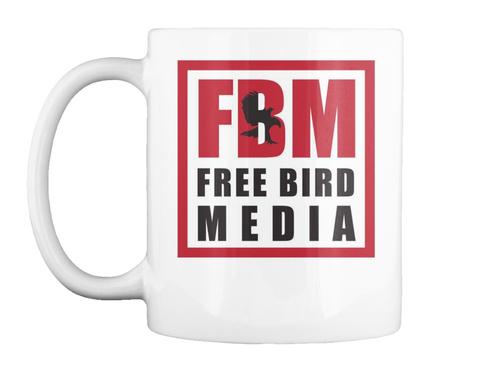 Fbm Free Bird Media White T-Shirt Front