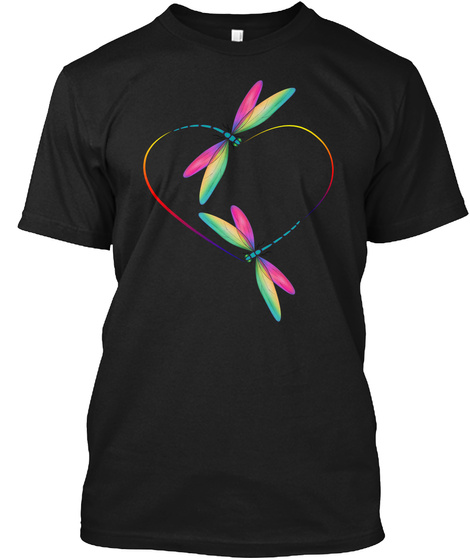 Dragonfly Dragonfly Art 04 Black T-Shirt Front