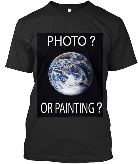 Photo Or Painting Black T-Shirt Front