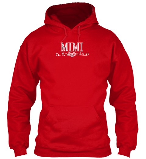 Mimi Red Sweatshirt Front