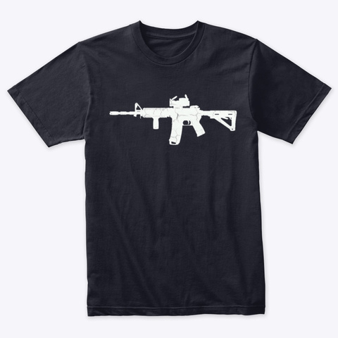Americas Rifle Vintage Navy T-Shirt Front