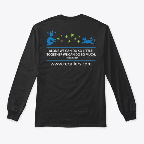 Recallers Hoodies, Tees And Mugs Black T-Shirt Back