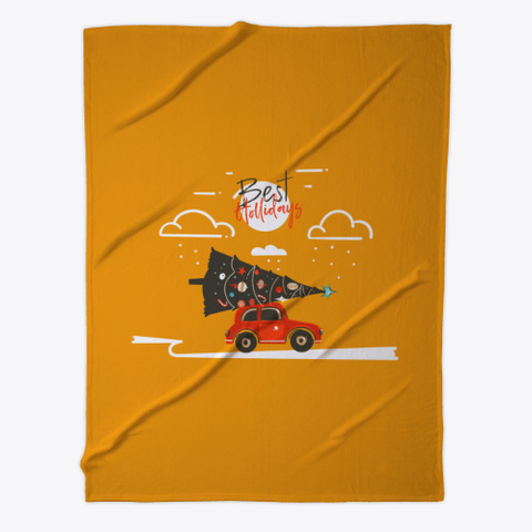 Gr Tee Happy Holiday Orange T-Shirt Front