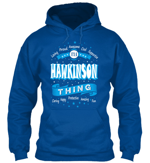 Name Hawkinson Christmas Weather Royal T-Shirt Front