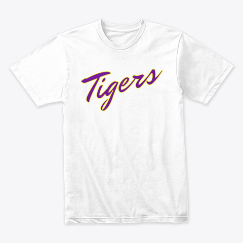 Tigers White T-Shirt Front