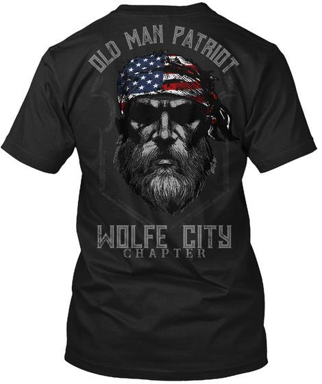 Wolfe City Old Man Black T-Shirt Back