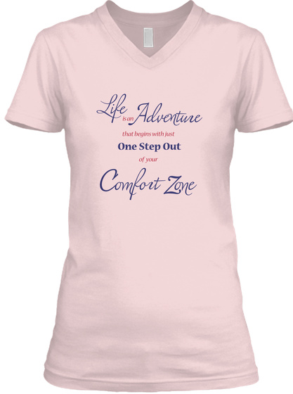 One Step Out Pink T-Shirt Front
