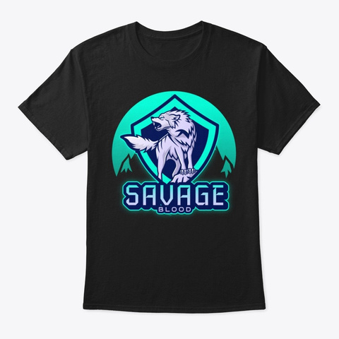 Savage Blood Black T-Shirt Front