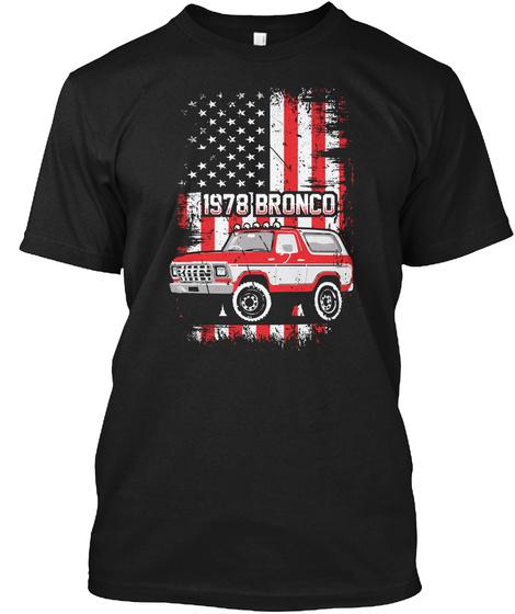 1978 Bronco Black T-Shirt Front