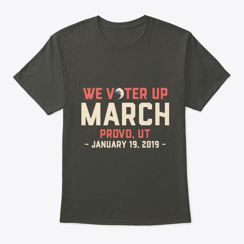 We Vote Provo, Ut Womens Wave Tshirt Smoke Gray T-Shirt Front