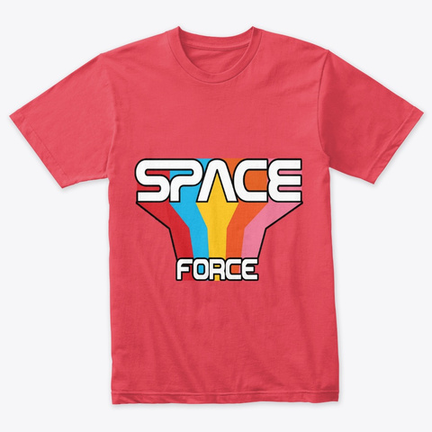 Space Force Vintage Red T-Shirt Front