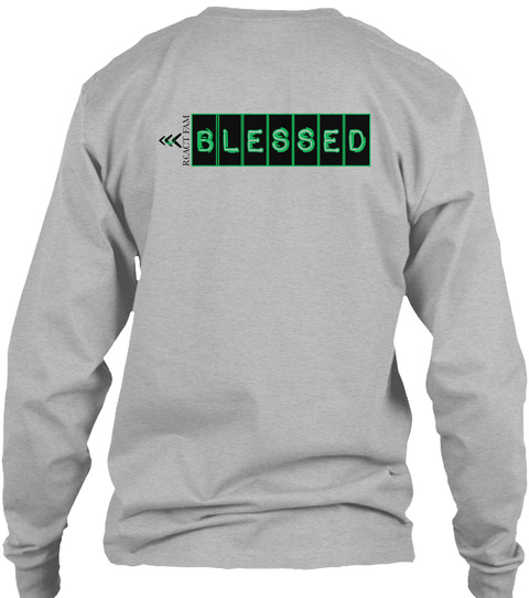 Blessed Sport Grey Long Sleeve T-Shirt Back