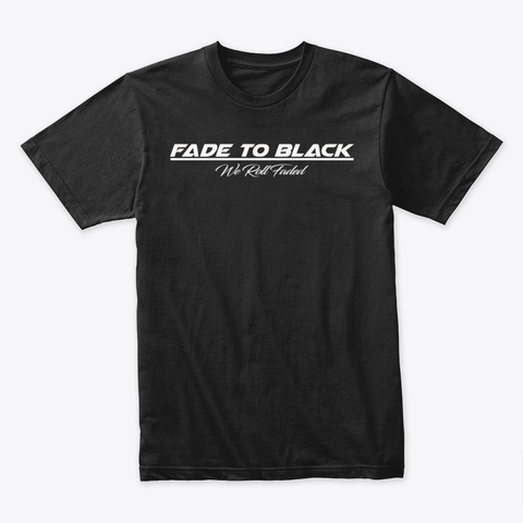 Faded Family Black T-Shirt Front
