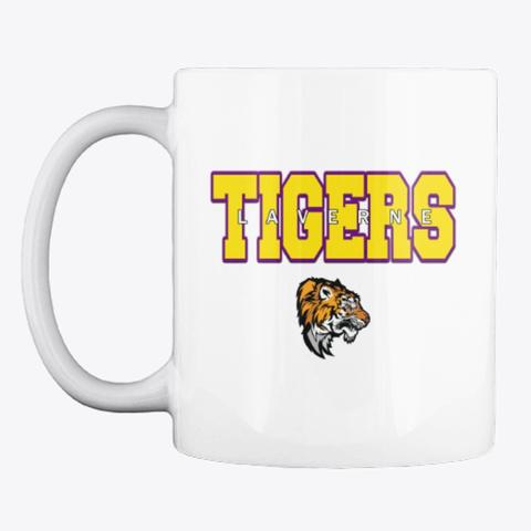 Laverne Tigers   Mug White T-Shirt Front