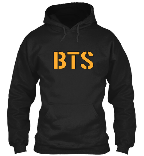 Bts Black Sweatshirt Front