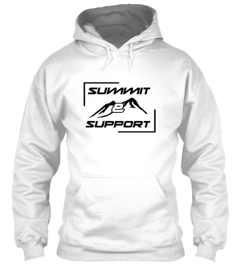 Summit And Support Charity Climb Arctic White T-Shirt Front