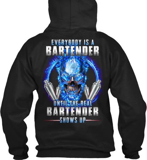 Bartender Black T-Shirt Back