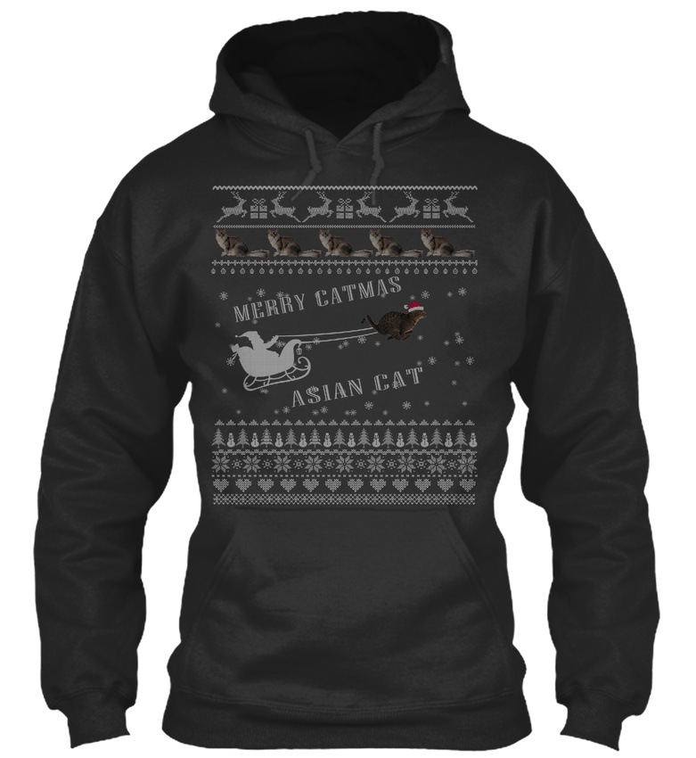 Easy-care Asian Cat Ugly Christmas Sweater Sweat - Merry Sweat Sweater à Capuche Confortable 6e0f9d