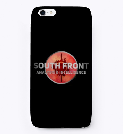 South Front Brand Black T-Shirt Front