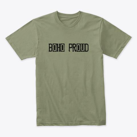 Boho Proud Bohemian Shirt Light Olive T-Shirt Front