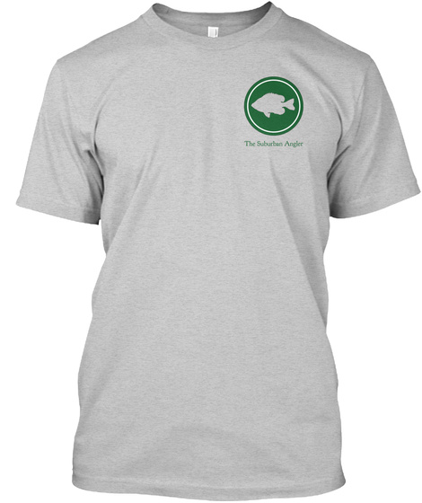 The Suburban Angler Light Steel T-Shirt Front
