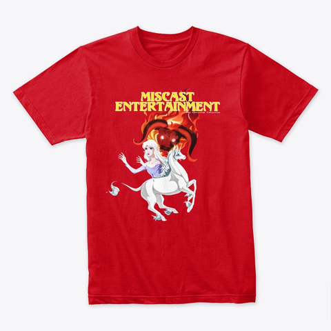 Unicorn  The Corteville Collection Red T-Shirt Front