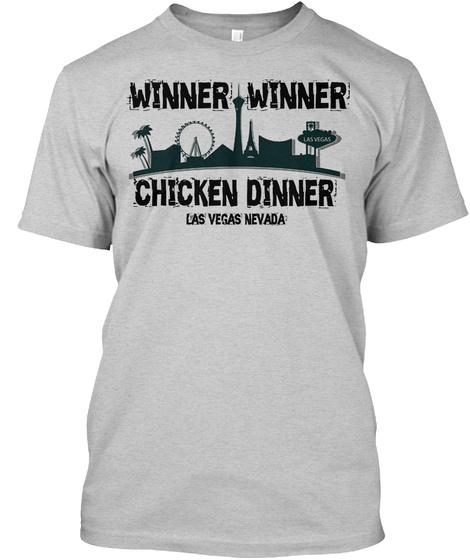 Winner Winner Chicken Dinner Light Steel T-Shirt Front