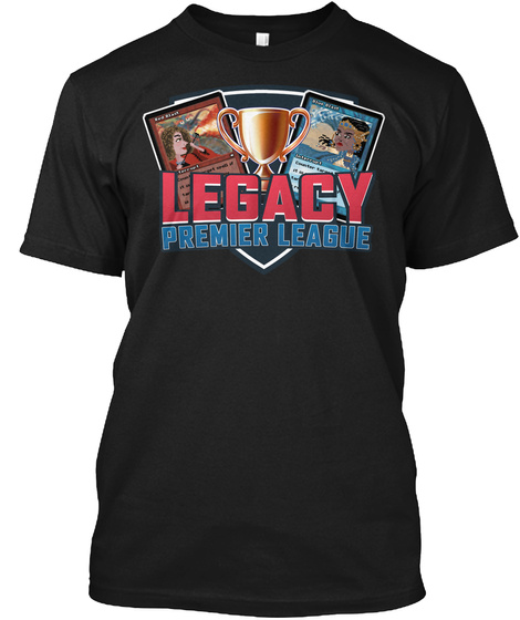 Legacy Premier League Black T-Shirt Front