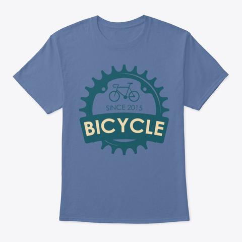Bicycle Since 2015 Denim Blue T-Shirt Front