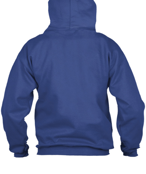 Lexi Blake Top Zip Hoodie Royal Sweatshirt Back