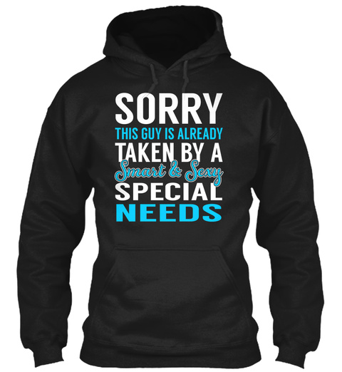 Special Needs   Smart Sexy Black T-Shirt Front
