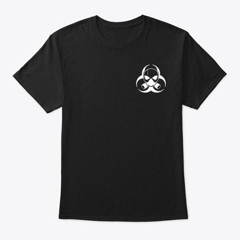 Classic Hazard Black Black T-Shirt Front