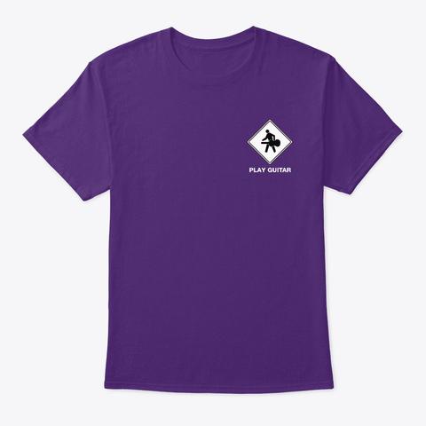 Guitar Walking Guy   Play Guitar   Purple T-Shirt Front