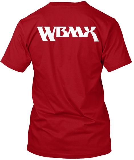 Wbmx Deep Red T-Shirt Back