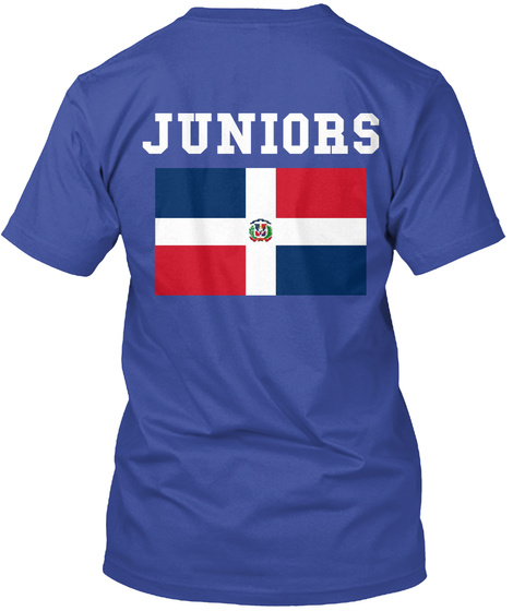 Juniors Deep Royal T-Shirt Back
